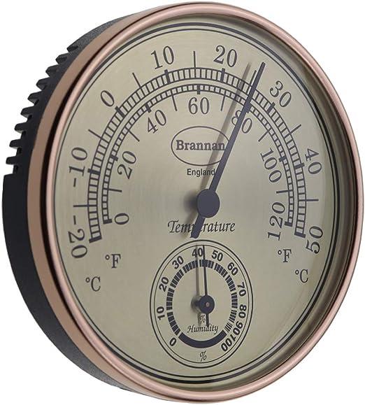 Thermomètre hygromètre Cadran Doré Serre de jardin Bureau à domicile –  Mesure Température et Humididty