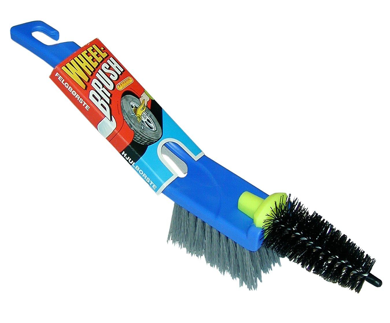 Veropa Cepillo para llantas Twin (2 en 1) con cepillo plano y cepillo de precisió n có nico para una limpieza completa de las llantas. 6031/1