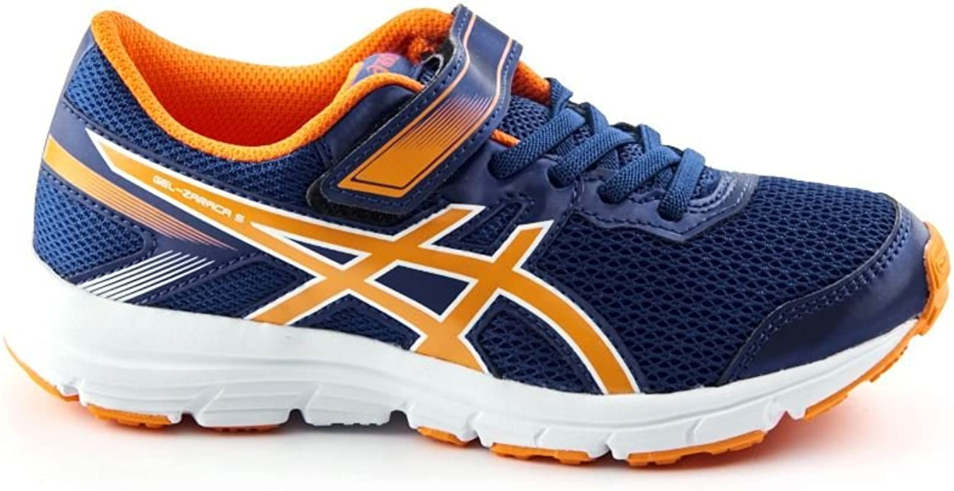Asics Scarpe Sportive Bambino Ragazzo Gel-Zaraca 5 PS C636N Running Blu: MainApps: Amazon.es: Zapatos y complementos