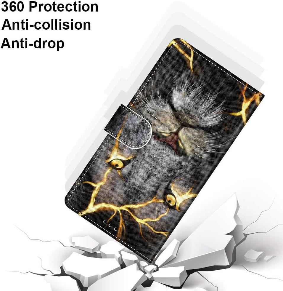 Laybomo Funda para Huawei P8 Lite//ALE-L21 Carcasa Protectora PU Funda Multi-/ángulo Prueba de Golpes Polvo a Prueba de Silicona con Soporte Plegable Apto para Huawei P8 Lite Funda Tapa Pintado 10