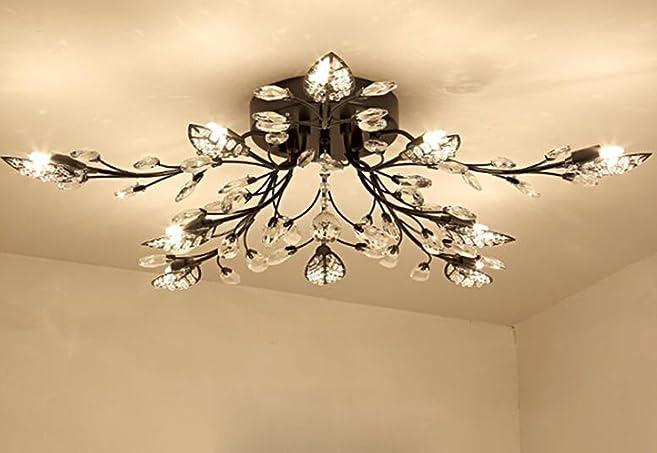 Diy familymodern crystal led ceiling lampleaf flush mount ceiling diy familymodern crystal led ceiling lampleaf flush mount ceiling light fixture decorative crystal chandelier aloadofball Images