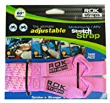 ROK Straps NEW Stretch 2-pk Tie Downs 18''-60'' Motorcycle Adjustable Straps- PINK!