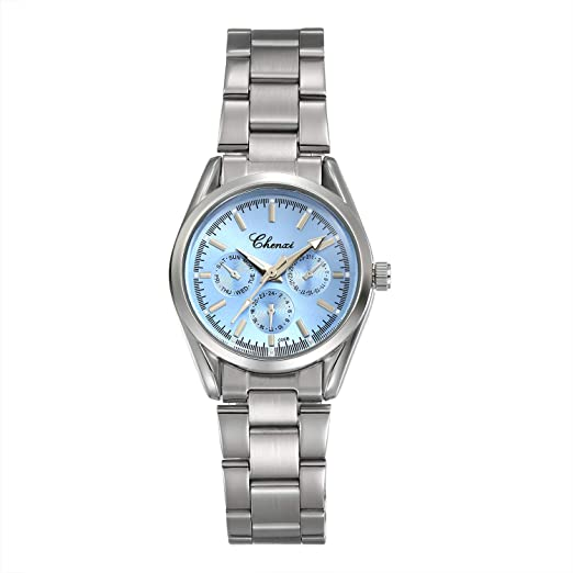 Women s Brcaelet Bangle Watch Fashion Accessories Blue Dial Japan Quartz  Wrist Watches with Stainless Steel Band dbef379644