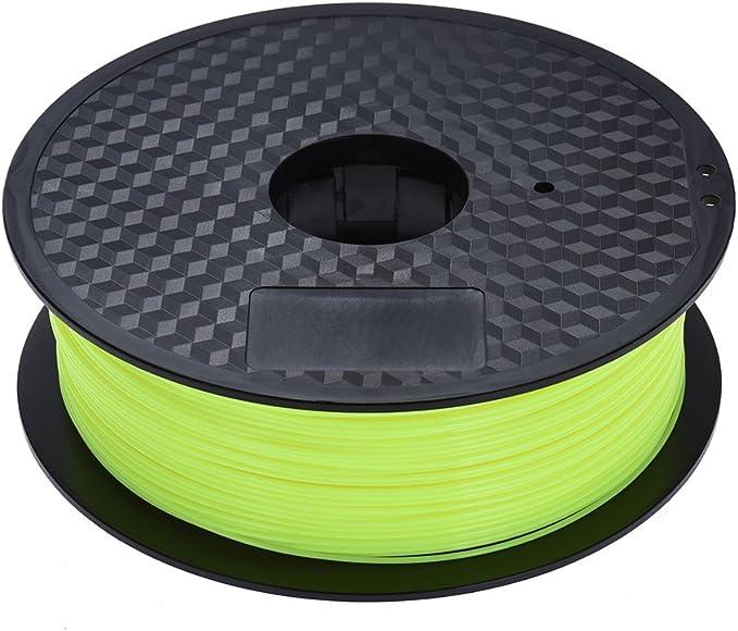 Docooler Filamento ambientale PLA materiale di stampa 1,75 mm per MakerBot Anet RepRap 3D Printer Pen giallo fluorescente