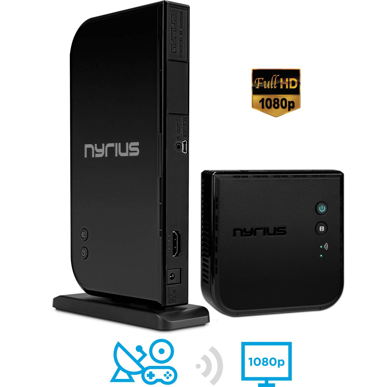 Nyrius ARIES Home HDMI Digital Wireless Transmitter & Receiver for HD 1080p Video Streaming, Cable box, Satellite, Bluray, DVD, PS3, PS4, Xbox 360, Xbox One, Laptops, PC (NAVS500) by Nyrius