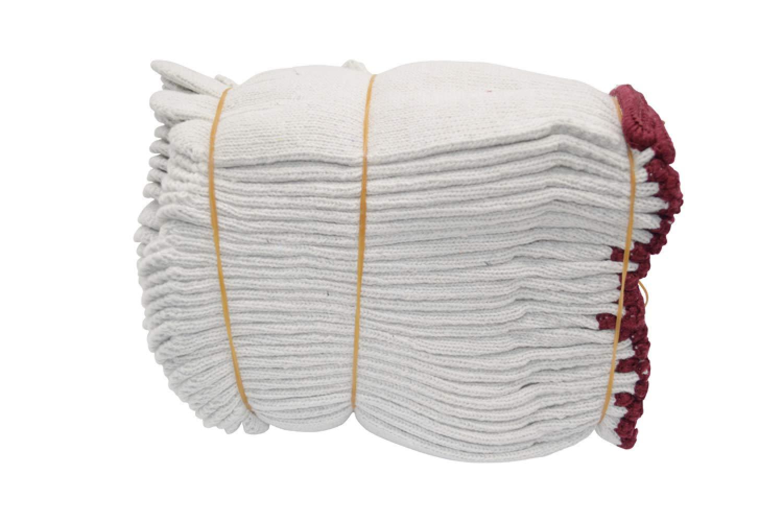 YIWANGO Outdoor-Arbeitshandschuhe Arbeitshandschuhe Verschleißfesten Baumwollgarn Arbeitskleidung Handschuhe (24 Paare),Weiß-OneGröße