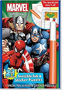 Marvel Universe Heroes Magic Pen Painting Activity Books, Set for Boys. Includes 4 Individual books: Guardians of the Galaxy, Ultimate Spider-Man, Marvel Justice for All, Marvel Heroic Adventures