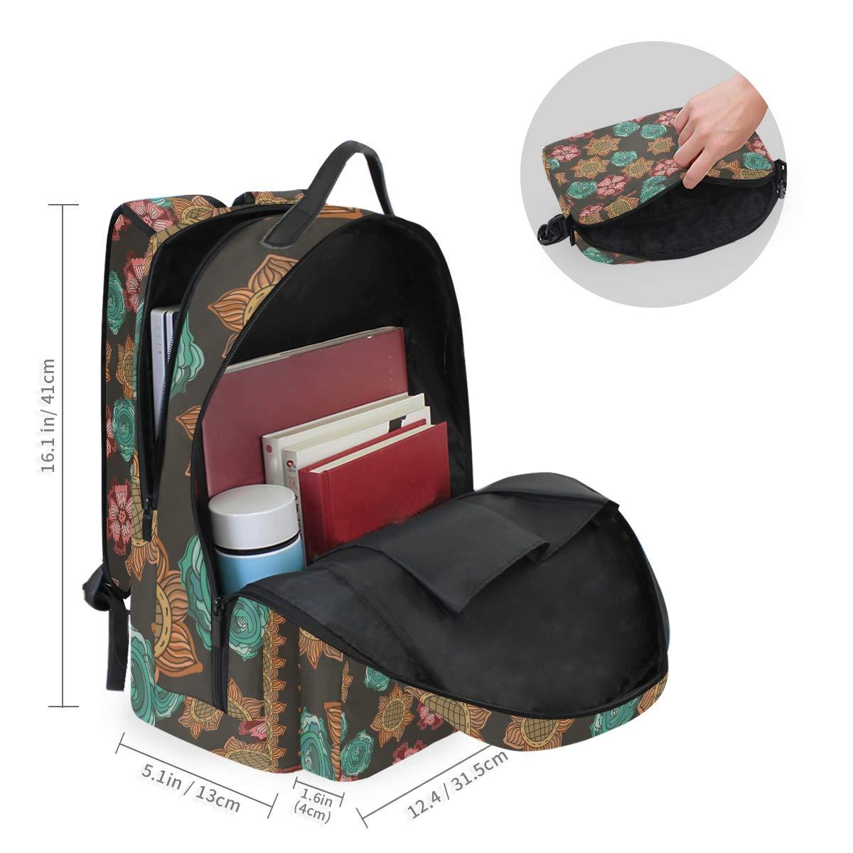 Sunflower Daisy Floral Shoulder Backpack Messenger Crossbody Laptop Bag Student Bookbags for Kid Girls Boys