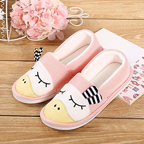 Flat Knitted Ultra for Washable Diabetic Slippers Toe Pink Closed Comfort Cotton Women's Edema Pregnant BUYITNOW xTEqYSwUR