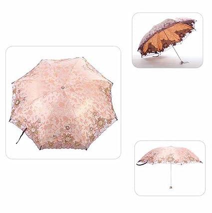 Kaxima Paraguas Plegable, protección UV, Paraguas Ultralight, del Arte del Bordado, Refuerzo
