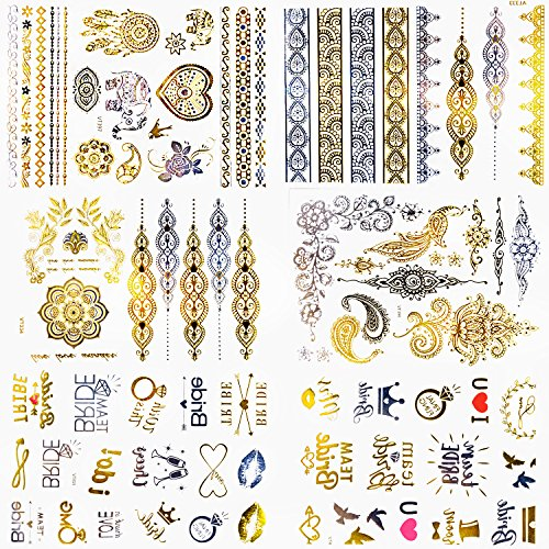 Bachelorette Party Tattoos Gold OVER 80+ New & Stunning Kepooman Accessories Designs that Match the Vibrant Images -
