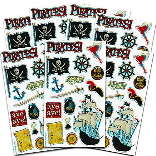 Pirate Stickers Party Favor Pack (Over 100 Stickers)