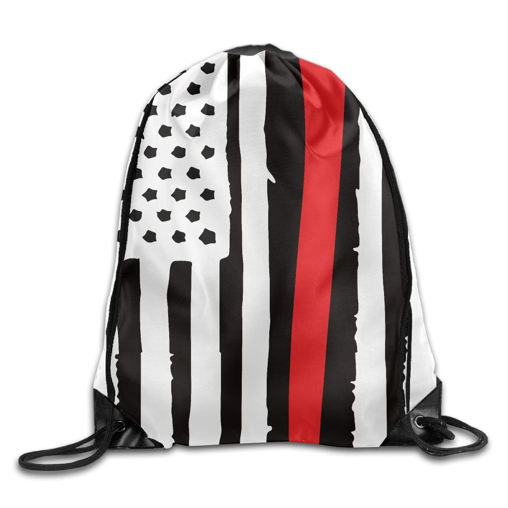 f77939b2d new American Flag Firefighter Unisex Home Gym Sack Bag Sport Drawstring  Backpack Bag