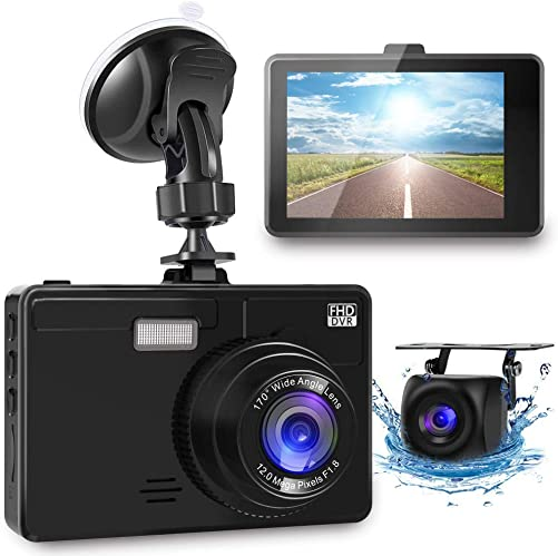 OIIEE Dual Dash Cam 1080P FHD Front and Rear Car Camera, Driving Recorder with Night Vision, 170 Wide Angle 6G Lens, Loop Recording, Parking Monitor, G-Sensor, WDR, Motion Detection
