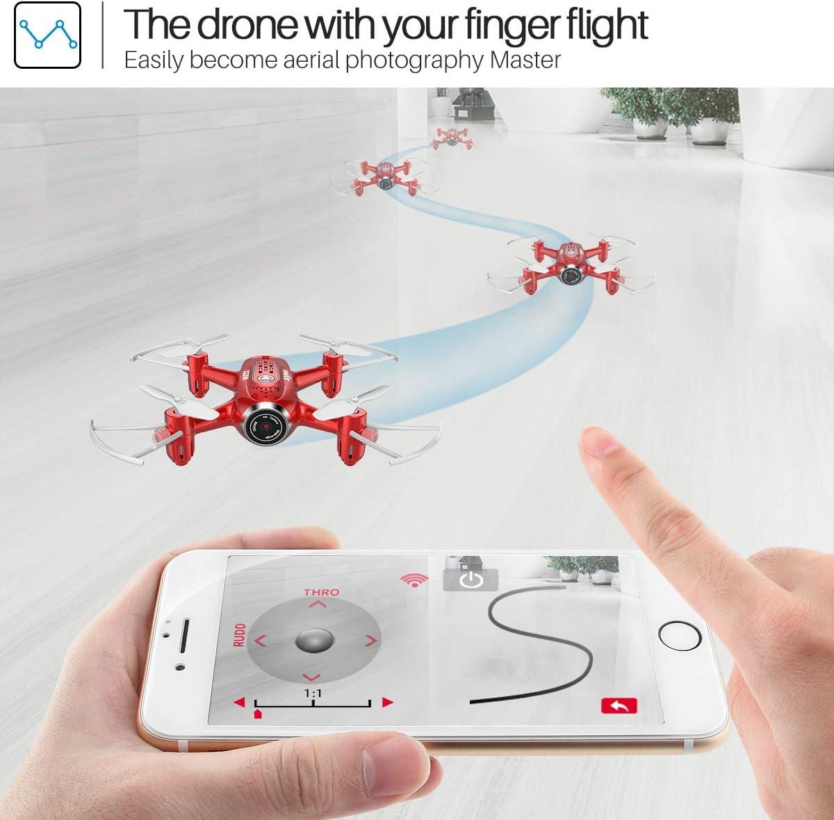 syma x22w mini drone review of trajectory mode