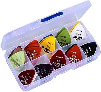 astropick – Caja de 40 púas para guitarra eléctrica, acústica, bajo, o Folk – 6 capas),: 0.58/0.71/0.81/0.96/1.20 y 1.50 (mm) – para hombre y mujer – Pico, pestaña, Pick, Plectro.