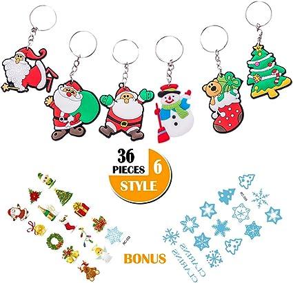 Xmas Christmas Key Chain Santa Claus Tree Chain Silicone Handbag Keyring Gift *1