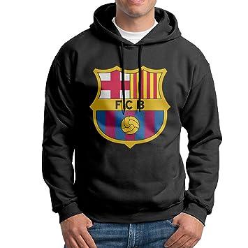 FC Barcelona Logo sudadera con capucha para hombre negro sudadera con capucha, M, Negro: Amazon.es: Deportes y aire libre