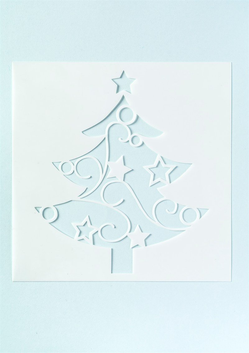 Christmas Tree Cake Stencil - Large Culpitt
