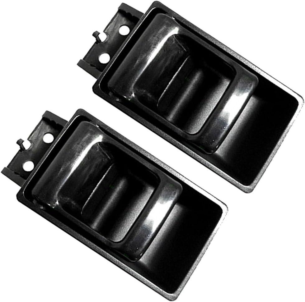 INSIDE DOOR HANDLE BLACK FRONT LEFT RIGHT FOR 1995-1997 Nissan Pickup REAR
