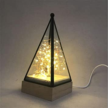 Lucky Jjll Lampe De Table Nordic Creative Led Feu Arbre Fleur D
