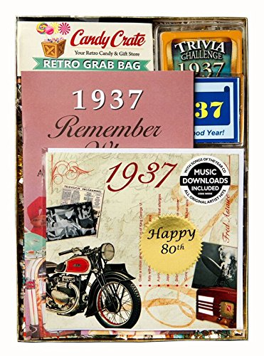 80th Birthday Gift for Men or Women - 1937 Year Time Capsule