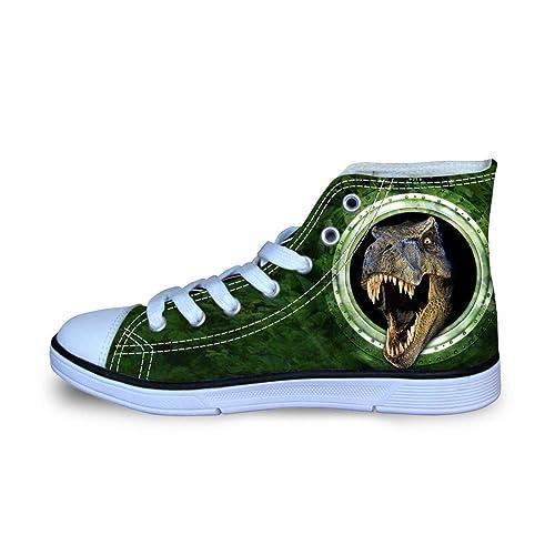 d6e789e9a1e87 HUGS IDEA Cool Animals Print Kids Sneaker High Top Canvas Shoes for Girls  Boys