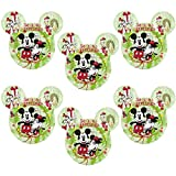 kids mickey mouse dishes - Zak! (6 Pack) Mickey & Minnie Mouse Ears Kids Christmas BPA-Free Plastic Disney Plates Set, Reusable Tableware