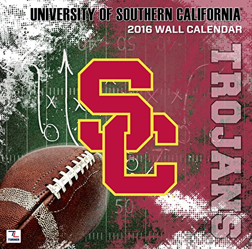 "Turner USC Trojans 2016 Team Wall Calendar, September 2015 - December 2016, 12 x 12"" (8011838)"