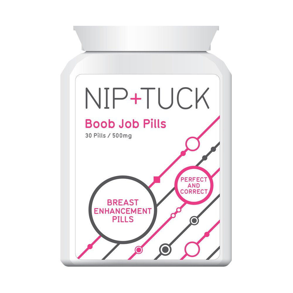 NIP & TUCK BOOBJOB PILL BIG BREAST ENHANCEMENT PILLS FIRMS & PLUMPS STOPS SAG