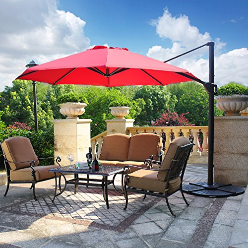 Cast Aluminum Garden Bench (Domi Outdoor Living Patio Furniture Dining Set 4 Piece Cast Aluminum Patio Furniture Conversation Set with Cushions and Coffee Table, Antique Bronze)