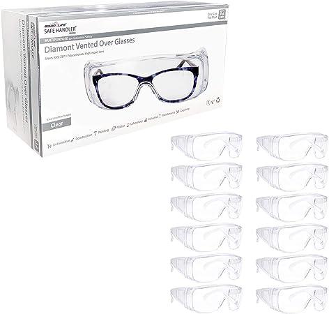 12 PAIR Safety Glasses Clear Lens  Eyewear Work Sports ANSI Z87