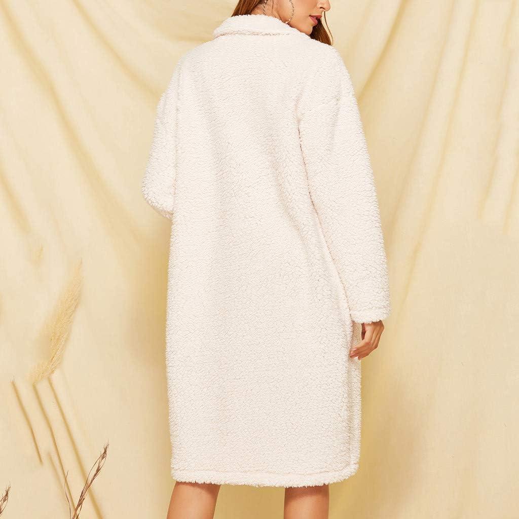 Premium Full Zip Fleece Sherpa Lapel Parka Overcoat Clubwear Winter Outwear Warm SamojoyFurry Faux Fur Coat Women Long