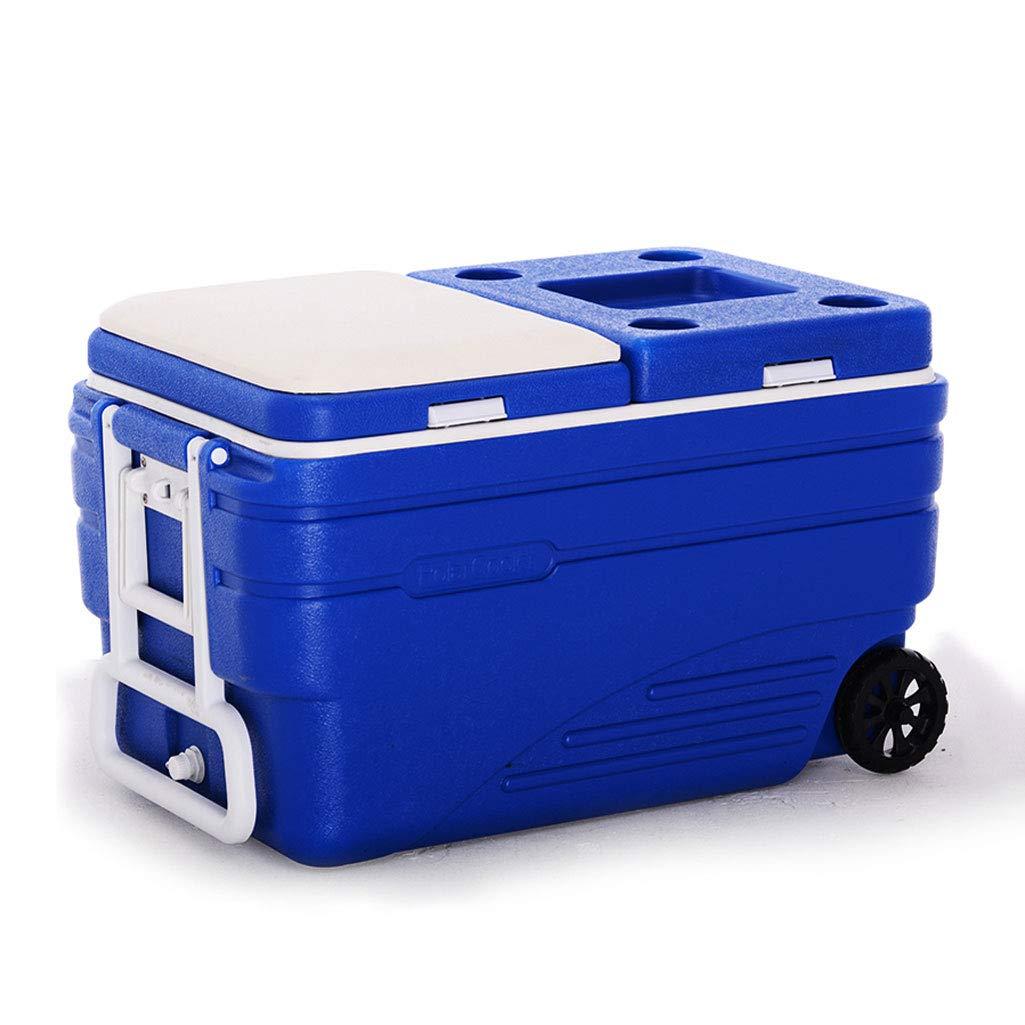 To Isolierbox, Hohe Qualität Zum Mitnehmen Aufbewahrungsbox, Frische Transport Kühlschrank, Frische Box Mit Thermometer (Farbe : Blau (B))
