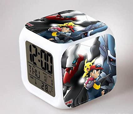 COOLNN de Digimon Anime Despertador Dibujos Animados Creativa Colorido Reloj Despertador para niños Despertador Digital Despertador