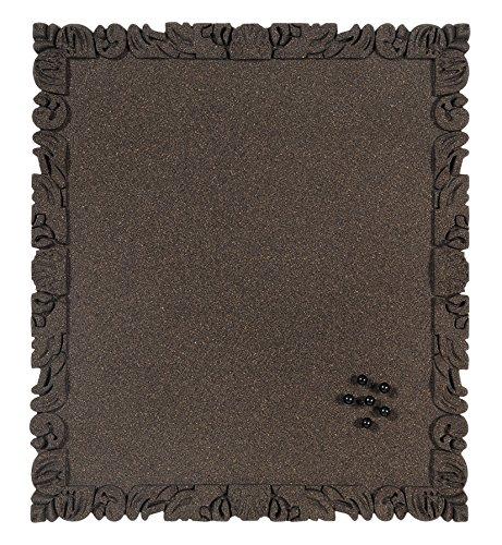 Bi-Silque WT1132054 Rococork Korktafel, rahmenlos, Kork, schwarz