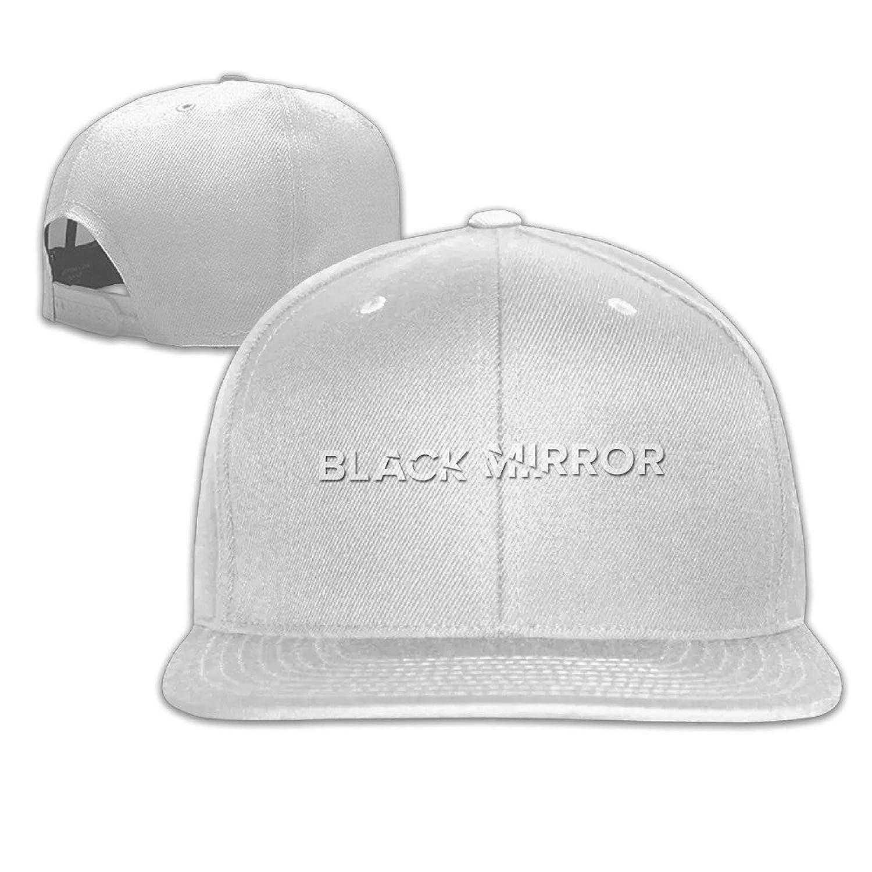 LeaDear Unisex Black Mirror Adjustable Baseball Cap Cotton Snapback Hat