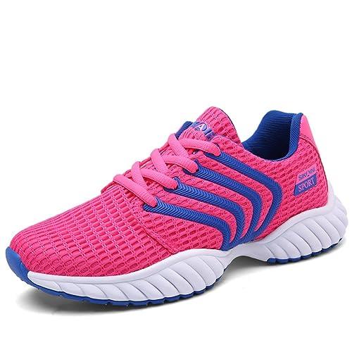Baloncesto Mujer Hombre Couples Zapatilla de Running Running Sport Sneakers, Rosa (Rose), 37 EU: Amazon.es: Zapatos y complementos
