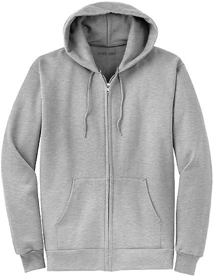 Joe's USA Full Zipper Hoodies Hooded Sweatshirts in 28 Colors. Sizes S 5XL