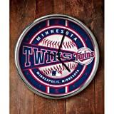 MLB Minnesota Twins Official Chrome Clock, Multicolor, One Size