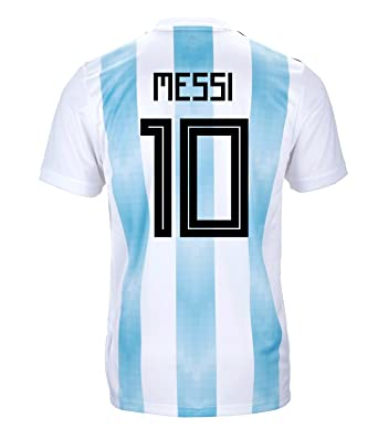 826b282a3b4 adidas Messi #10 Argentina Official Youth Home Soccer Jersey World Cup  Russia 2018 (YXL