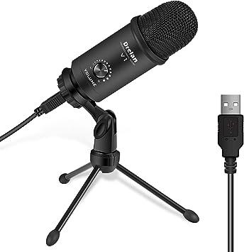 Amazon.com: Micrófono USB, condensador de computadora de ...