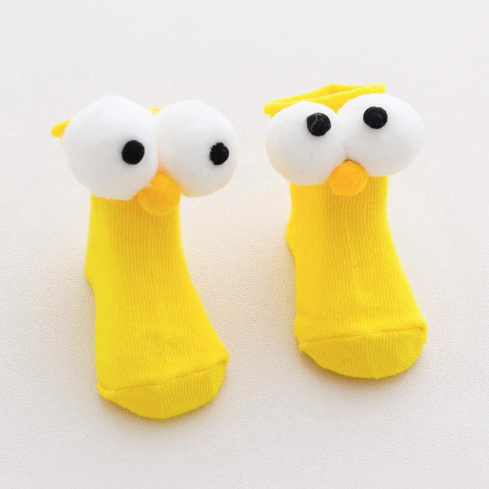 TM 1 Pair Baby Kids Little Boys Girls Cute Cartoon Eye Winter Warm Socks Keep Warm Socks for 1-9 Y Jchen