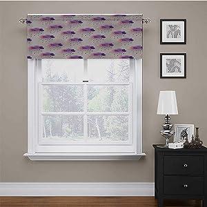 carmaxs Valence Curtains for Windows Geometric Decor for Kids Room/Baby Nursery/Dormitory Retro Decor Triangle Pattern Geometric Art Mosaic Rain Drops on Polka Dots Print 56