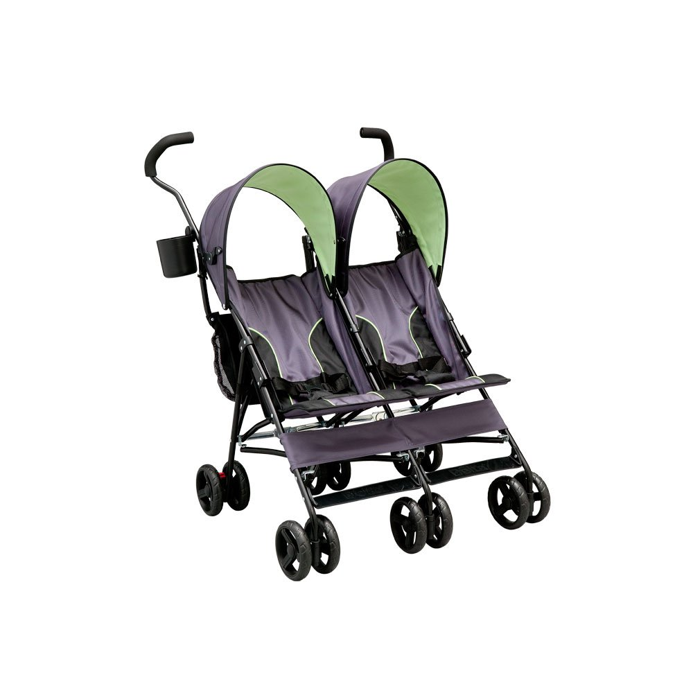 Grey Delta Children City Street LX Side by Side Stroller