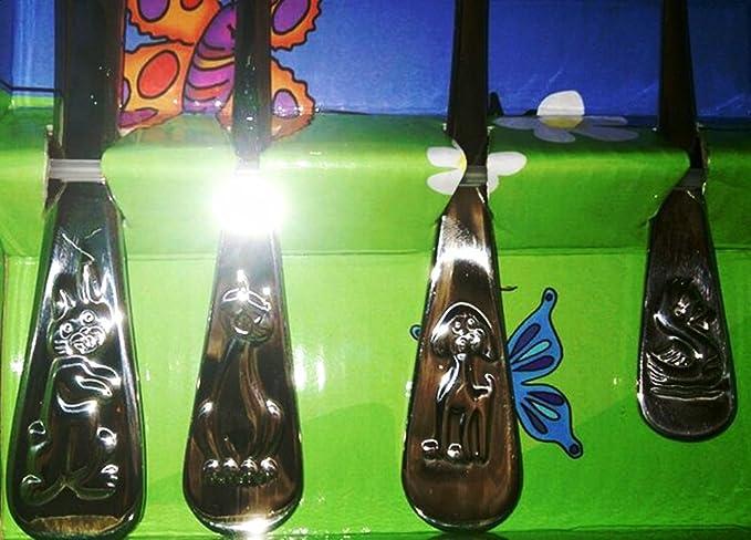 Juego de cubiertos infantiles 4 Nivella - teillig Hochwertiker de acero inoxidable 18/10: Amazon.es: Hogar