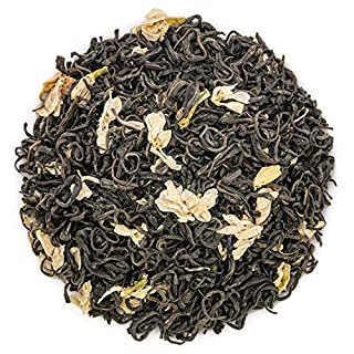 Oriarm 250g / 8.82oz Green Jasmine Tea Bi Tan Piao Xue Yuqian 3rd Grade - Chinese Loose Leaf Green Tea with Jasmine Flowers - Pleasant Aroma and Tonic Effect