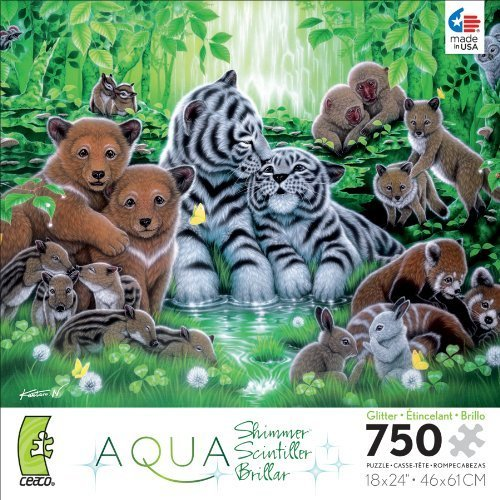 Ceaco Aqua Shimmer Forest Jigsaw Puzzle by Ceaco