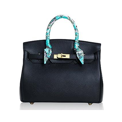 8a3b1a5970a5b SHINING KIDS Echtleder Handtaschen Litschi Muster Platin Tasche Schulter  Handtaschen Mehrere Größen Optional
