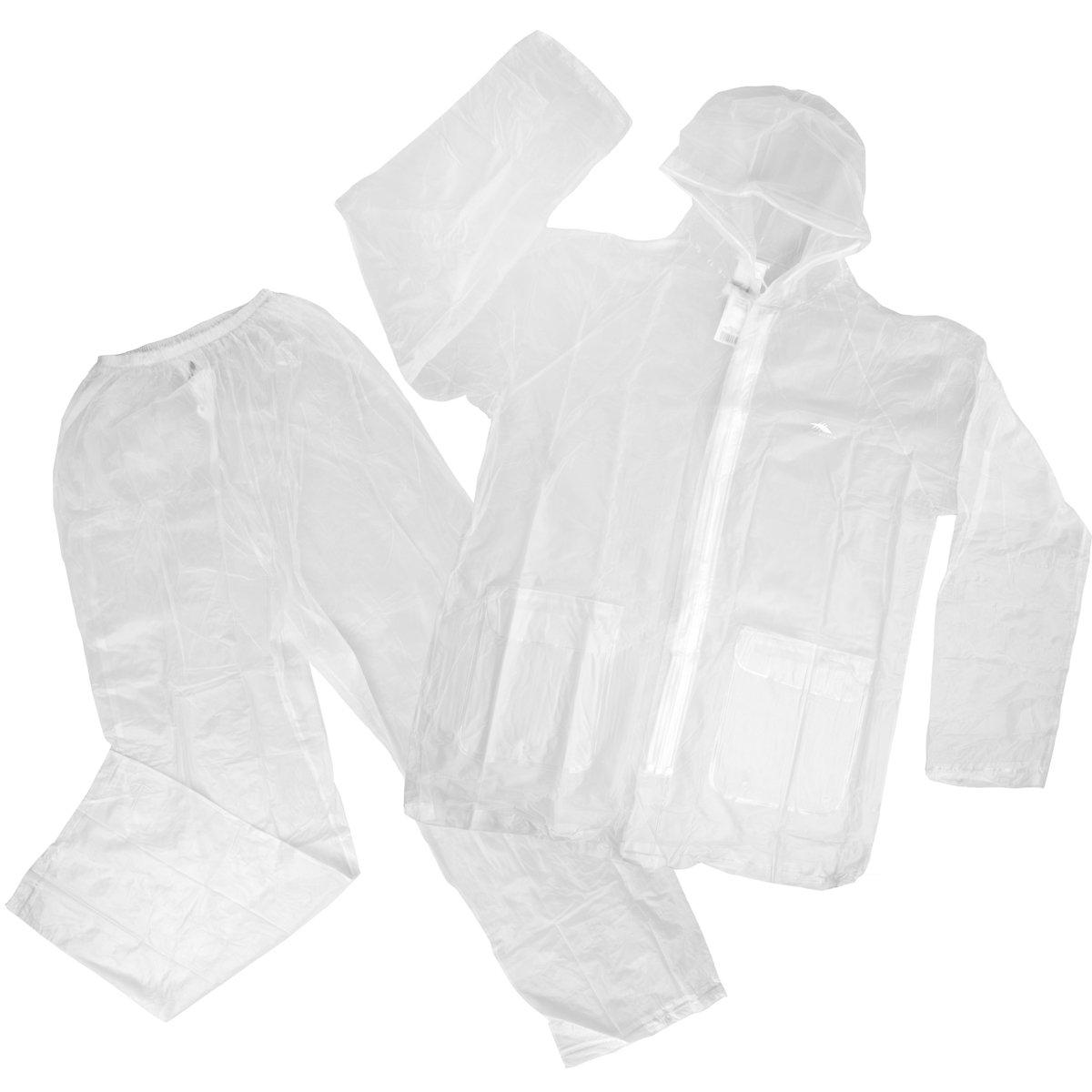 High Sierra 2pc Waterproof Emergency Rain Suit Bottom Jacket Hood Women Men